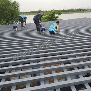 梁祝公园钢构油漆翻新